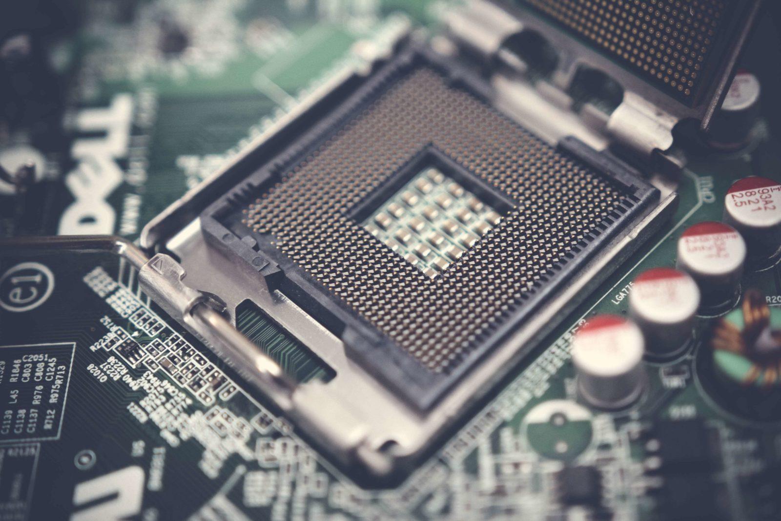 Ein CPU-Sockel.