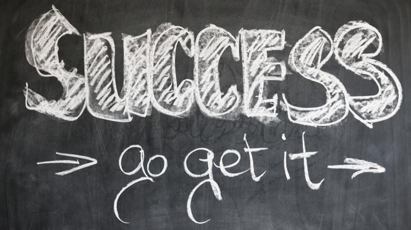 """Eine Tafel mit den Worten """"Success go get it"""""""